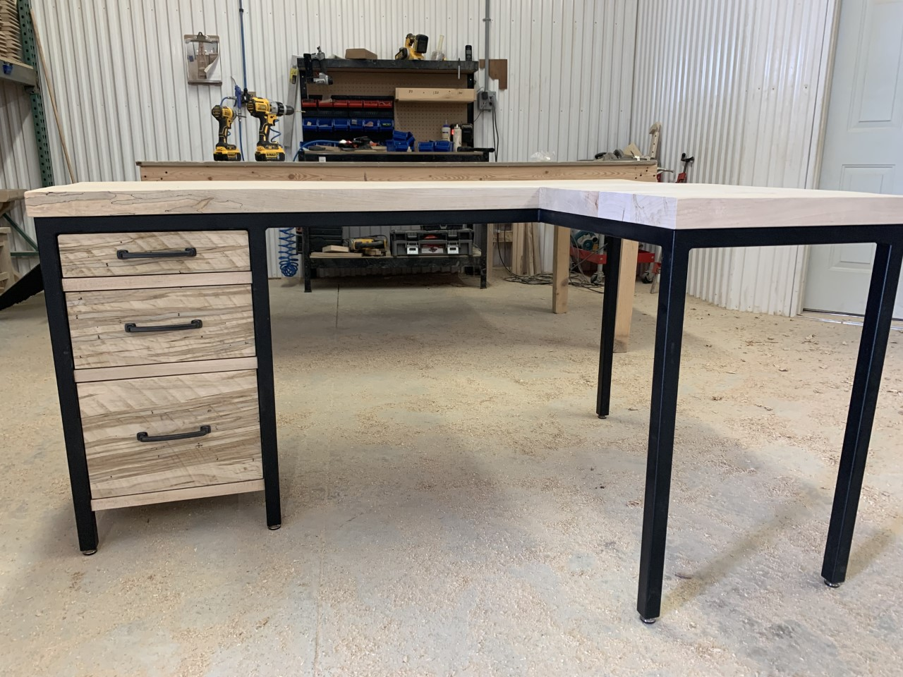 Custom desk W/ return