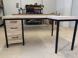 Custom desk W/ return
