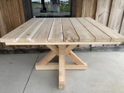Cedar square table