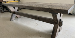 X trestle bench w/ slab top
