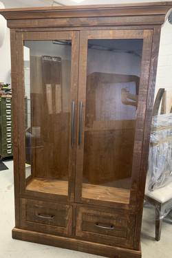 Custom glass cabinet