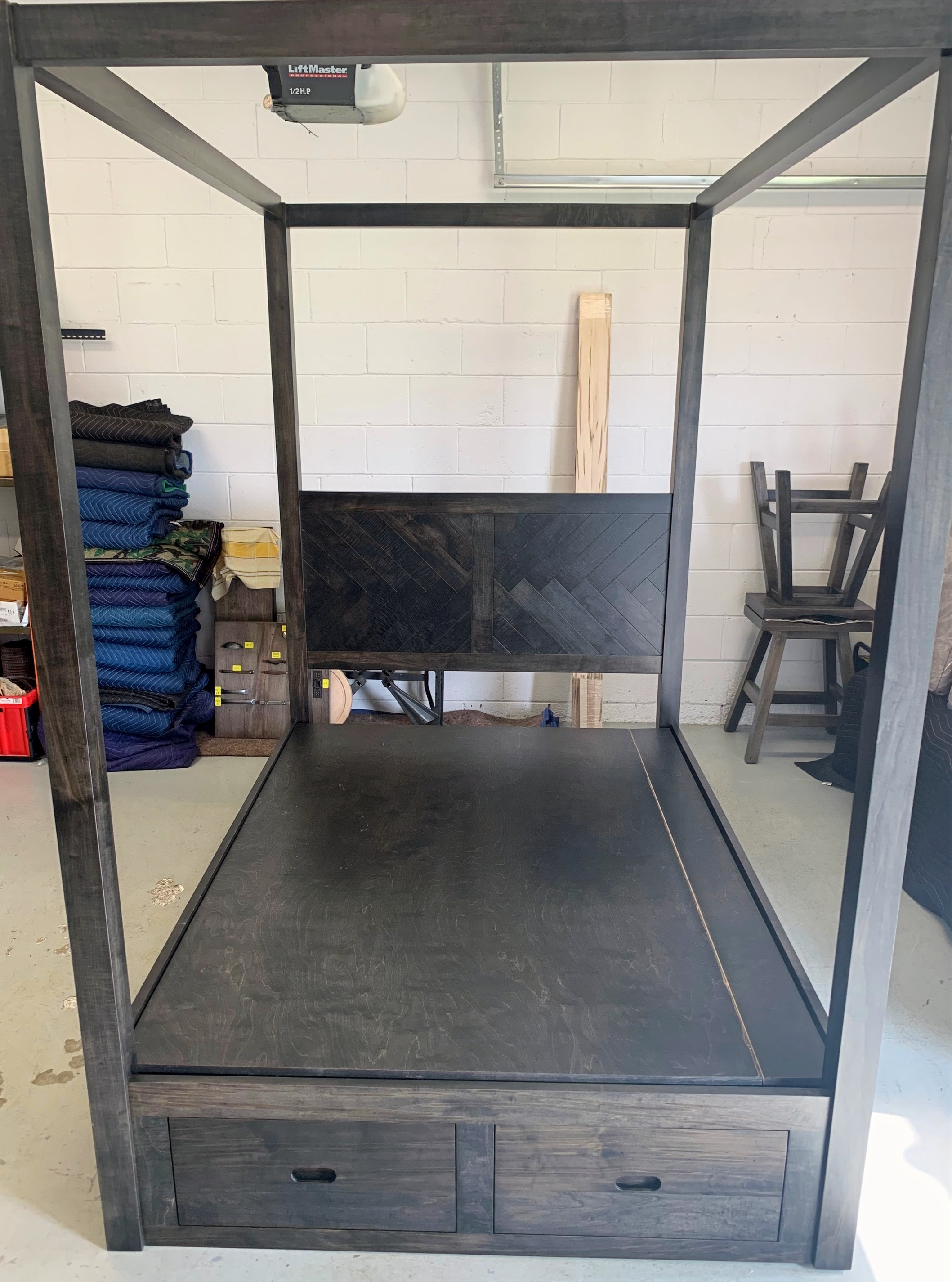 New! Herringbone canopy bed