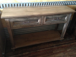 Toronto Table W/ 2 Drawers & Shelf