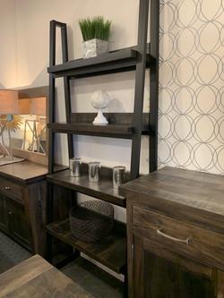 Metal/wood bookcase