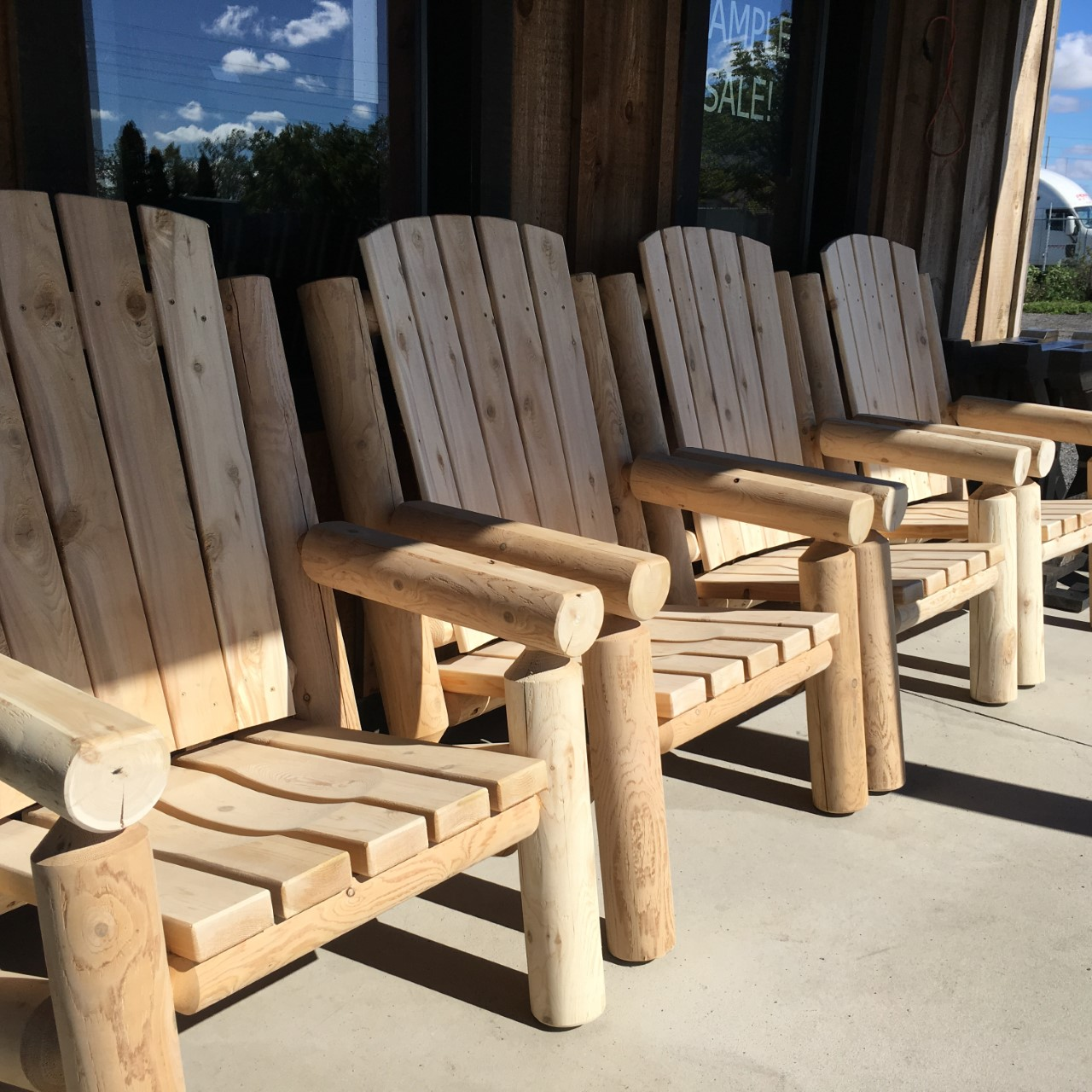 Log Adirondack