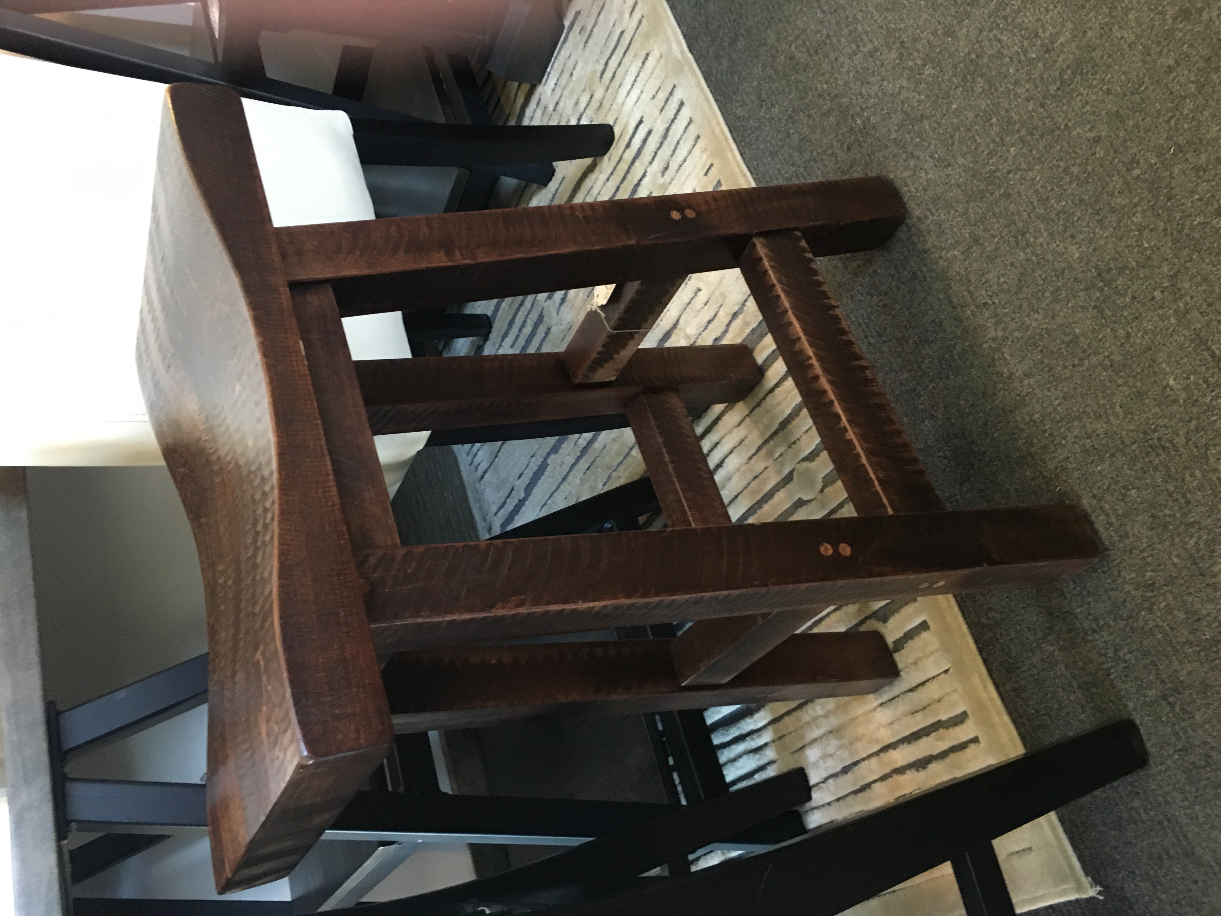 Rough Sawn Saddle Stool