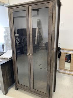 Glass door bookcase