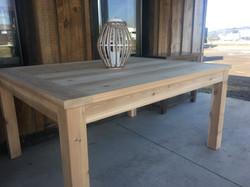 Cedar outdoor harvest table