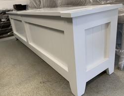 Custom long double lift top bench