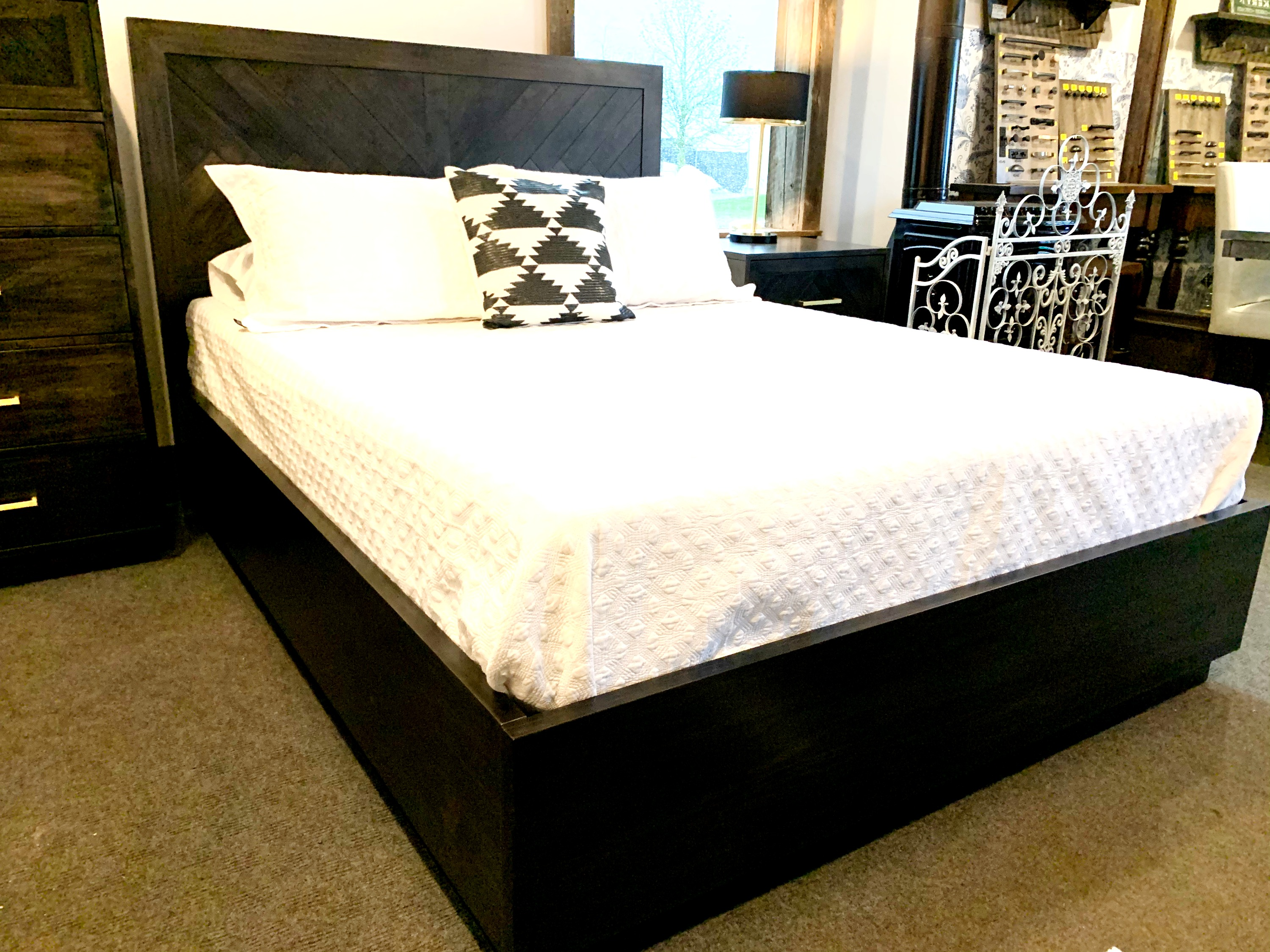Herringbone Platform bed