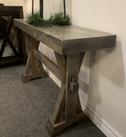 X trestle sofa table
