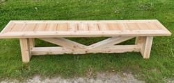 Red cedar outdoor bench