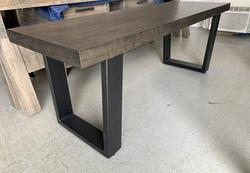 Metal U base bench