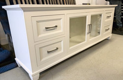 Toronto TV console with glass/drawers