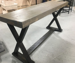 Thick top X base console