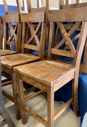 Fancy Rustic X back stools