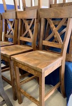 Fancy Rustic X back stools
