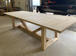 Cedar V base outdoor table