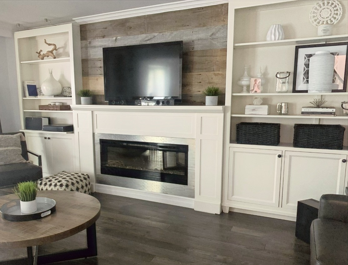 Custom Bookcases and Mantel