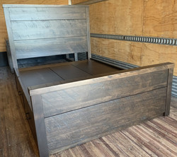 Double Rustix bed w/ drawers