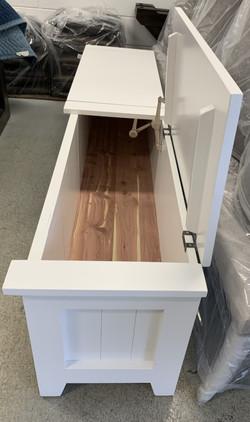Custom double lift top bench