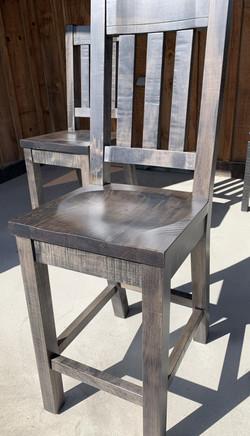 chunky slat back bar chair