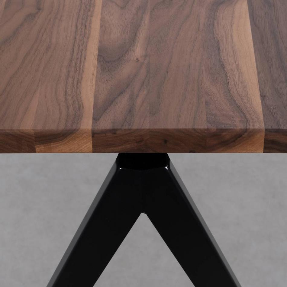 TD4 tafel zwart - walnoot
