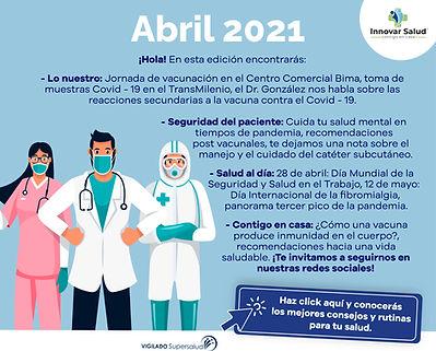 call to action innovar salud boletin con