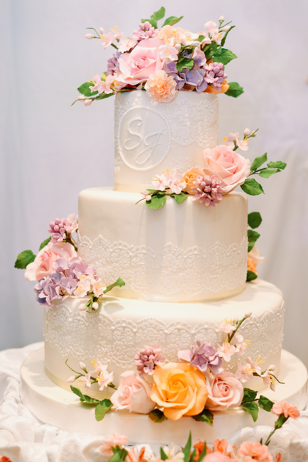 Jam's Stenciled Lace Cake