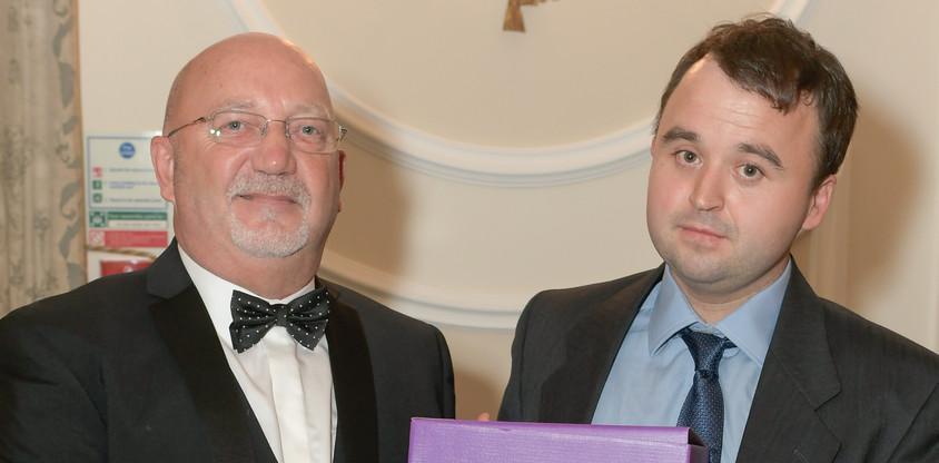 Robert Kenrick receives the 'Man of the Year' Award