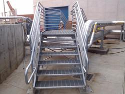 Elevated platform and railing