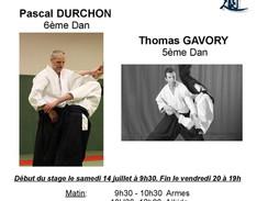 Stage d'été à Paulhaguet du 14 au 20 juillet!