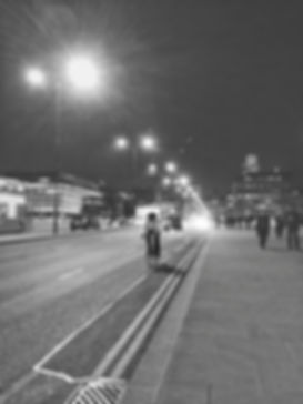 streetphotography London bridge with people and bicycle photographed by Anja Schwenke alias PHOTO MOTIF