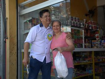 Onishi participa de mutirão da Dengue e operação cata bagulho no Trianon