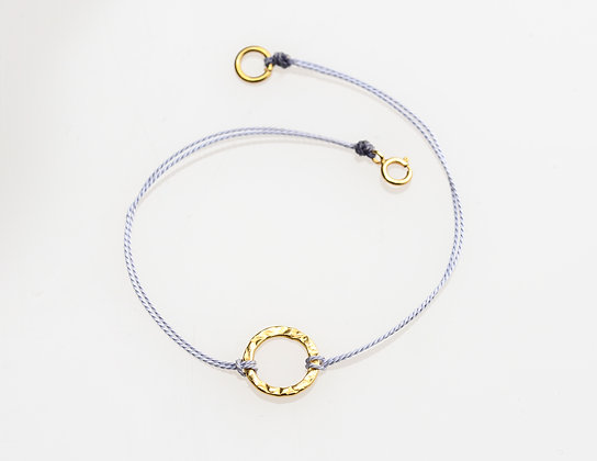 Karma Circle Bracelet on Silk