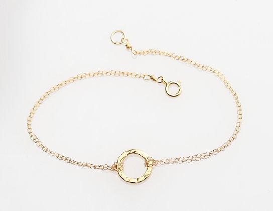 Karma Circle Bracelet on Gold Chain
