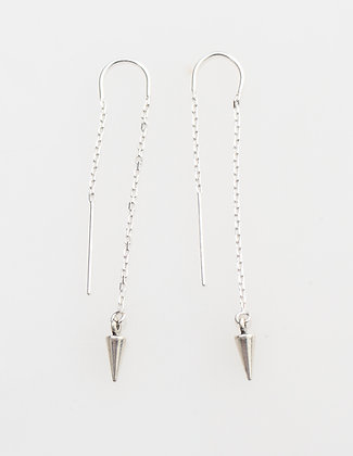 Ear Thread Pendulum Silver Earring