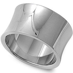 Curved Band Stainless Steel Ring