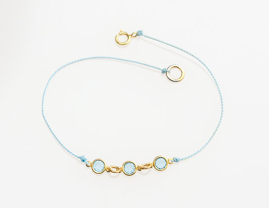 Charlotte Bracelet on Silk (Sky Blue)