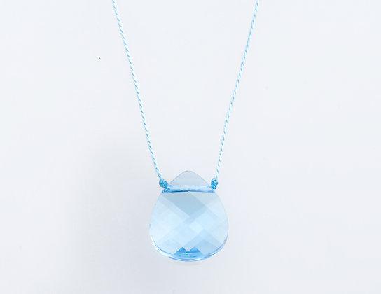 """Swarovski """"Julie"""" Floating Drop Necklace on Silk"""