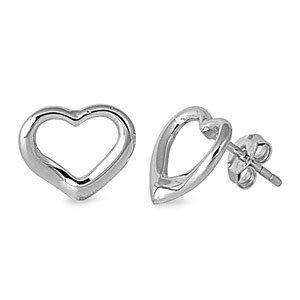 Inspired Heart Stud Earring