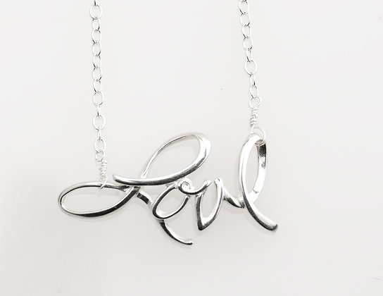 The Love Collection Script Pendant Necklace