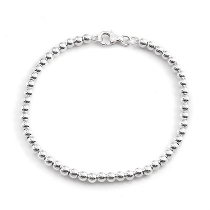 4mm Sterling Silver Pearl Bracelet
