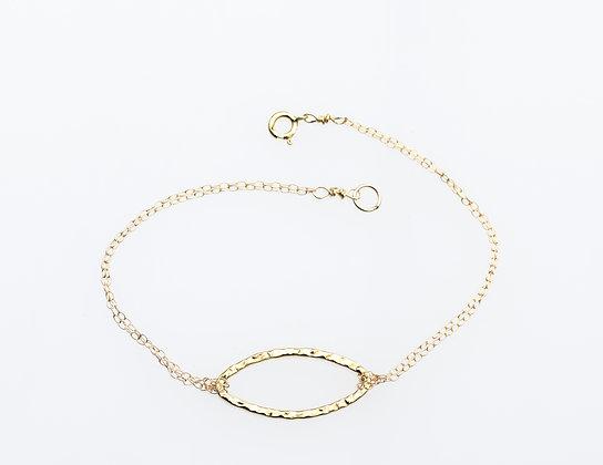 Karma Eye Bracelet on Gold Chain