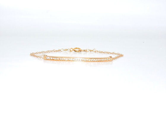"The ""Sloane"" Crystal Bar bracelet"