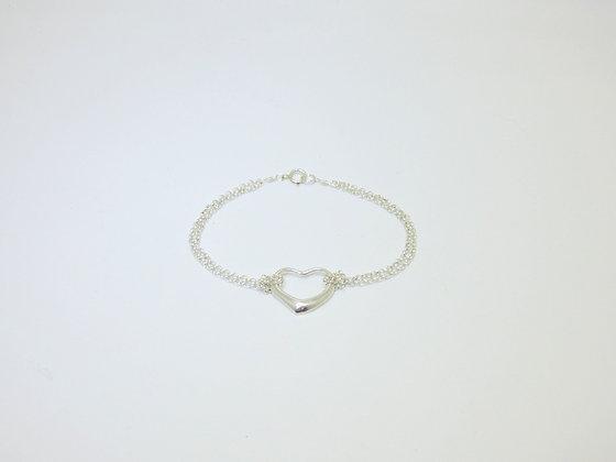 Inspired Heart Double-Chain Bracelet