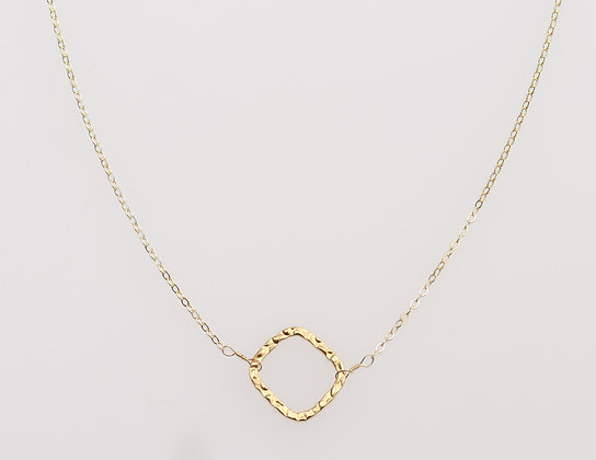 Karma Square Necklace in Gold