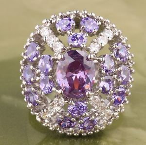 Vintage Amethyst and White Topaz Ring