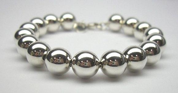 10mm Sterling Silver Pearl Bracelet