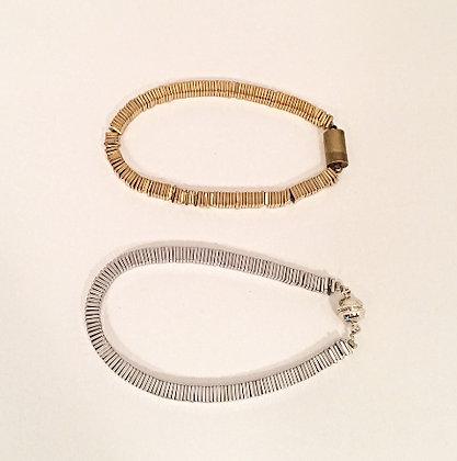Square Cut Natural Pyrite bracelet